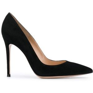 Gianvito Rossi 105 Velluto Black Pump